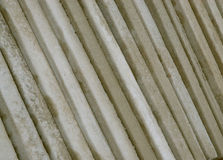 Edge of cement building slabs Royalty Free Stock Image