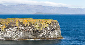 On the edge of the cliff - Iceland Stock Photo