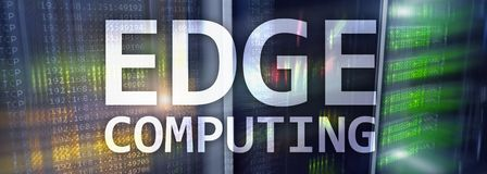 EDGE computing, internet and modern technology concept on modern server room background.  royalty free stock images