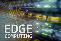 EDGE computing, internet and modern technology concept on modern server room background.  stock photography
