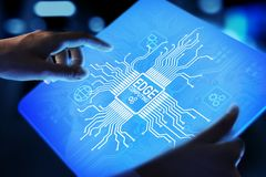 Free Edge Computing Modern IT Technology On Virtual Screen Concept. Royalty Free Stock Images - 140361759