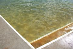 Intersecting lines of a ocean pools edges royalty free stock images