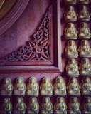 The edge. Decoration on the wall of the temple in Chinese Royalty Free Stock Image