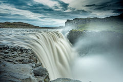 Edge of Dettifoss. Long exposure at the Edge of Dettifoss, Iceland Royalty Free Stock Images