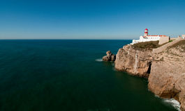 The edge of the earth. Cabo San Vicente in southern Portugal royalty free stock image