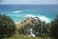 The Edge. The end of the lighthouse trail at Byron Bay Stock Photo