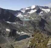 Edge of glacial lakes. Royalty Free Stock Photos