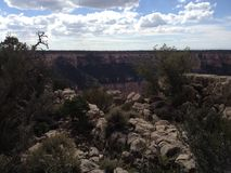 The edge of the Grand Canyon Stock Photo