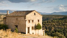 Stone built house in Spain Royalty Free Stock Image