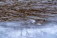 Edge of ice and water Royalty Free Stock Photo