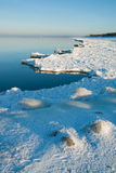 Edge of icy coast Stock Images