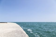 The Edge of the Lake. The edge of the Michigan Lake in Chicago Illinois Royalty Free Stock Photo