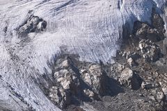 Edge of mountain glacier Royalty Free Stock Photography