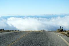 Edge of the Mountain Road Stock Photo