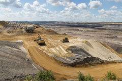Edge of opencast mining Stock Images