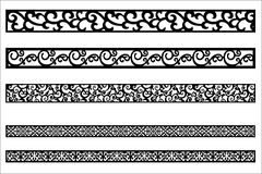 Edge ornament for frame design vector illustration