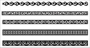 Edge ornament for frame design royalty free illustration