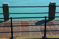 Edge of pier with sea. Worthing. England Stock Photography