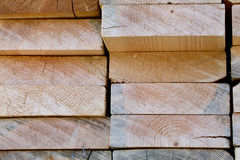 Edge of Planks Stack Stock Photography