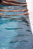Edge of a pool Royalty Free Stock Photo