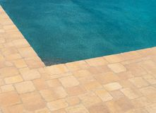 At the edge of the pool Royalty Free Stock Photos