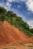 Edge of rainforest erosion,Copy space Stock Photography