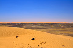 Edge of Sahara desert Stock Photo