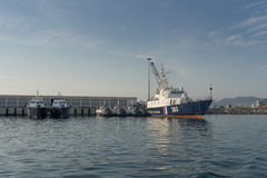 Edge ships. In the sea port of Sochi Royalty Free Stock Photography