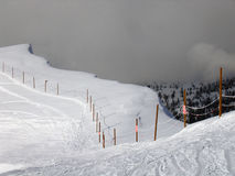 Edge of Skiing at Targhee Ski Resort. Cliff drop off at Targhee Ski Resort Royalty Free Stock Photography