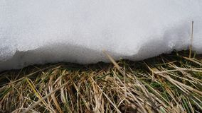 Edge of a snow drift Royalty Free Stock Photography
