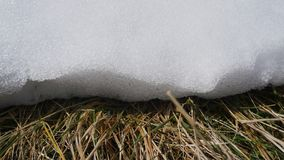 Edge of a snow drift Stock Image
