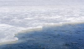 Ice on lake Stock Image