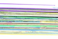 Edge of the stack of colored paper Stock Photo