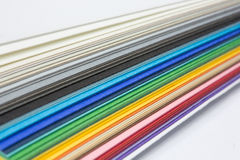 Edge of the stack of  paper. Edge of the stack of colored paper for artwork Royalty Free Stock Photography