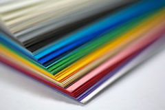 Edge of the stack of  paper. Edge of the stack of colored paper for artwork Royalty Free Stock Images