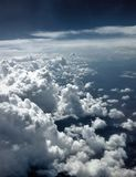 Edge of the Storm. View from the plane of the edge of a big storm somewhere over the United States Royalty Free Stock Image