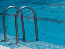 EDGE OF A SWIMMING POOL stock photo