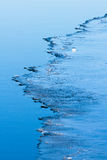 Ice edge. Edge of a thin ice layer Royalty Free Stock Images