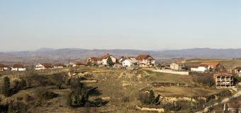 Edge of town  Kavadarci, Macedonia. Tikvesh wine region. Stock Image