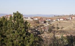 Edge of town  Kavadarci, Macedonia. Tikvesh wine region. Stock Photos