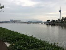 The edge. View from the main island of Macau Royalty Free Stock Photo