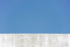 Edge wall with sky Stock Photo
