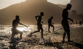 The edge of water. Rio de Janeiro, Brasil Royalty Free Stock Photography
