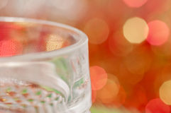 Edge of a wine glass Stock Photos