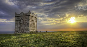 Edge of The World. This is a HDR image of Rivington Pike in Lancashire, Englad. Rivington Pike is a hill summit on Winter Hill, part of the West Pennine Moors Royalty Free Stock Photos