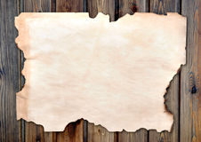 Edged burned paper Royalty Free Stock Images