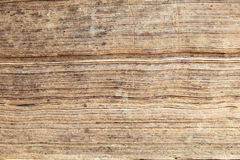 Edges of antique book pages Stock Images