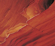 Edges of eroding sandstone layers Stock Photo