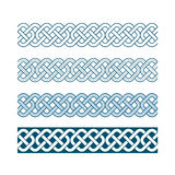 Edges of medieval style(Celtic knot) Royalty Free Stock Images