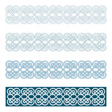 Edges of medieval style(Celtic knot). Some edges of medieval style(Celtic knot Royalty Free Stock Image